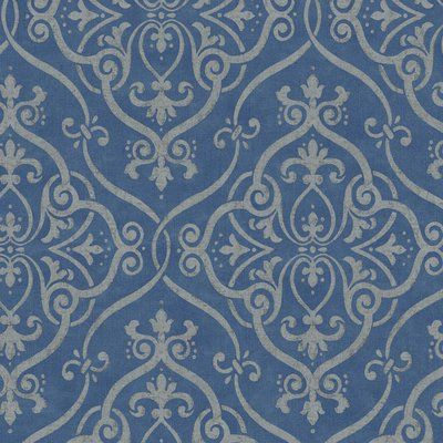 Download the Wonderful Blue Grasscloth Wallpaper