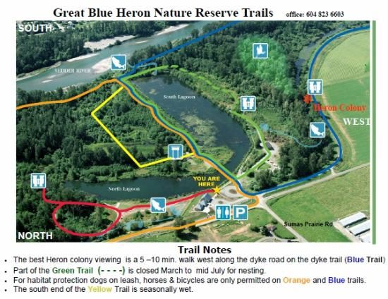 Great Blue Heron Nature Reserve Site Map