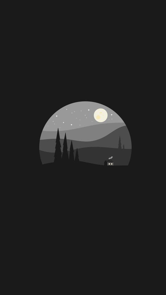 Black clean minimal wallpaper Android Wallpapers em 2019 Pinterest