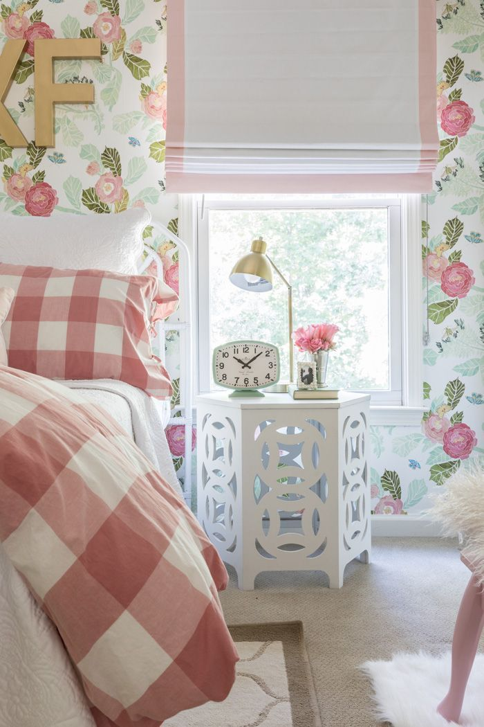 Kids Room Wallpaper A Beloved Nursery Grows Up Big Girl Rooms Flower Wallpaper and