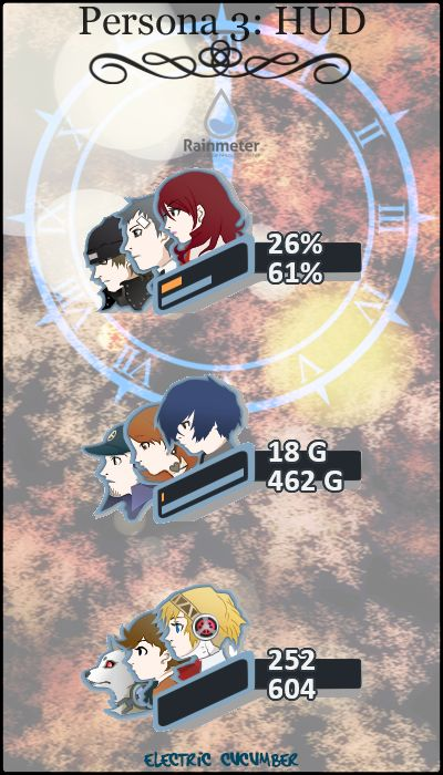 Gather the Awesome Persona 5 Rainmeter Skins
