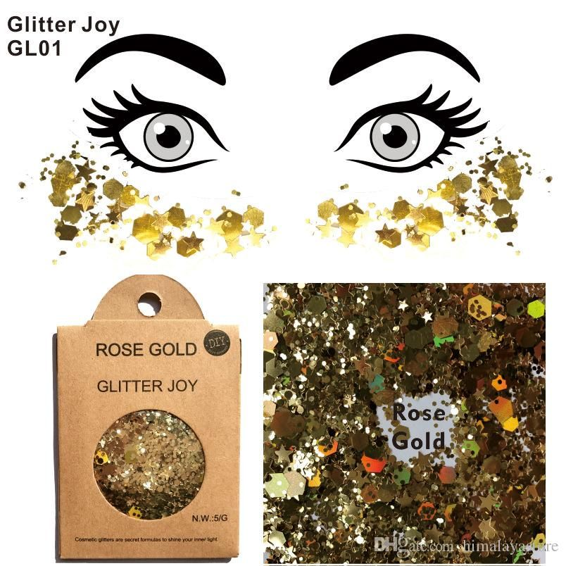 2019 GL01 Rose Gold Glitter Face And Body Makeup Cosmetic Grade To Sparkle At Party From Himalayastore $1 92