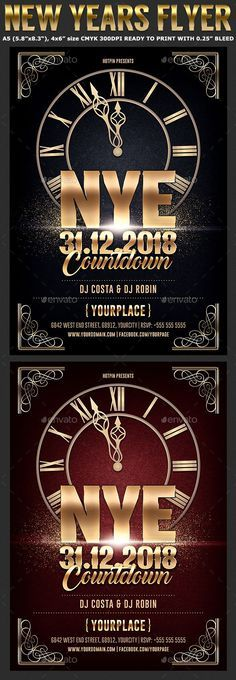 Nye Countdown Party Flyer new year christmas party Download s