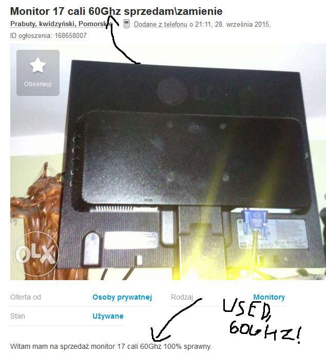 Pcgaming Reddit Awesome A 60ghz Monitor Olx something Like Craigslist Pcmasterrace