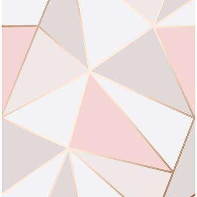 Arken Rose Gold Geometric Wallpaper